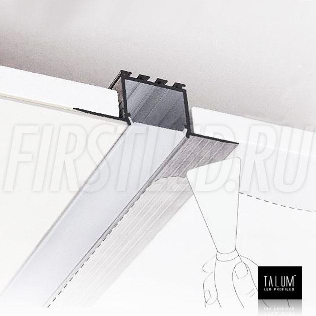Безрамочный светодиодный профиль TALUM NOFRAME 24.25 (eh67.25) (все закрывается армирующей сеткой и шпатлюется)