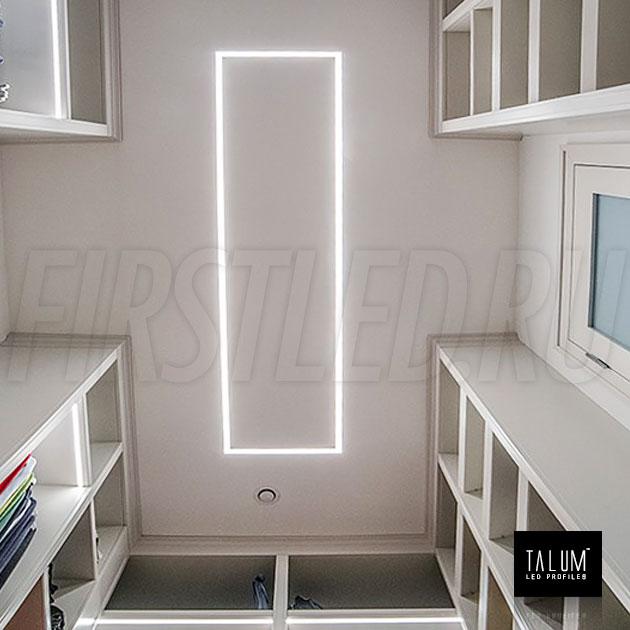 Безрамочный светодиодный профиль TALUM NOFRAME 24.25 (eh67.25) в интерьере