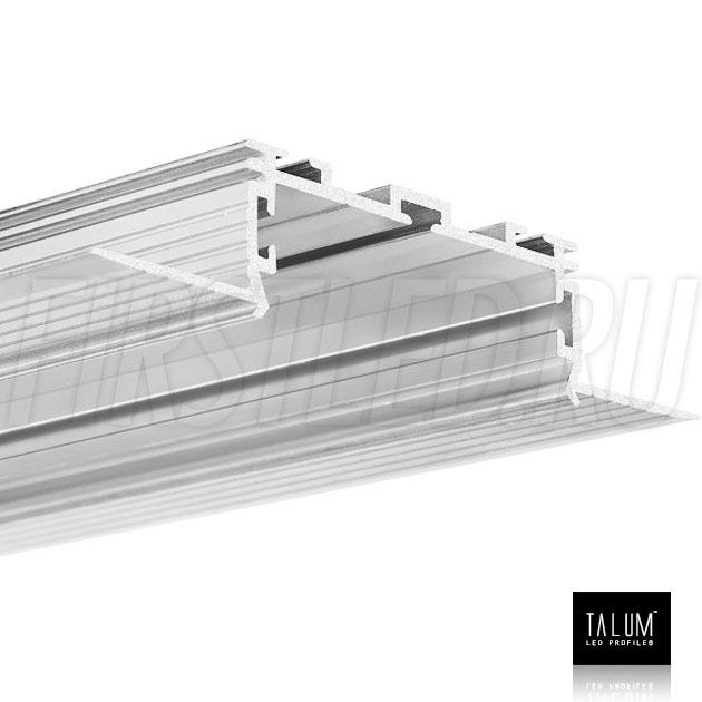 Встраиваемый алюминиевый профиль без рамок TALUM NOFRAME 45.19 без рассеивателя