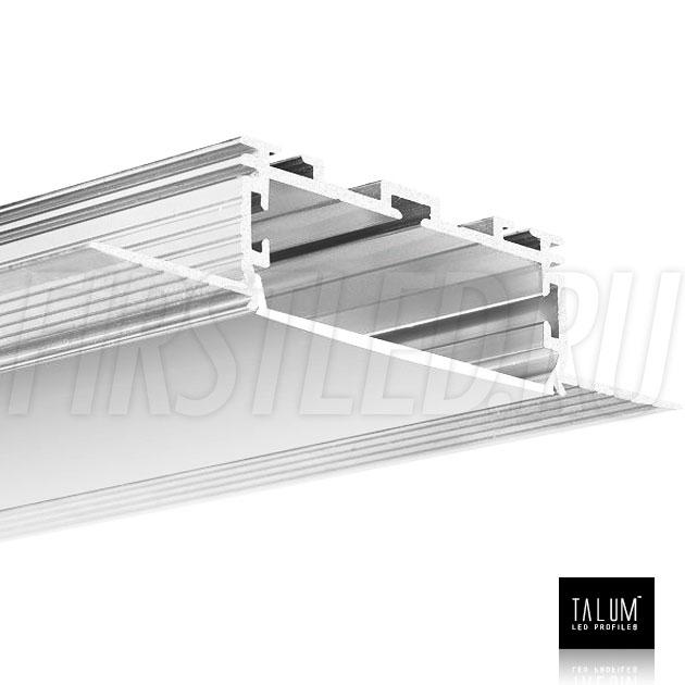 Встраиваемый алюминиевый профиль без рамок TALUM NOFRAME 45.19 с матовым рассеивателем