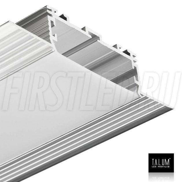 Безрамочный встраиваемый светодиодный профиль TALUM NOFRAME 45.19 с матовым рассеивателем