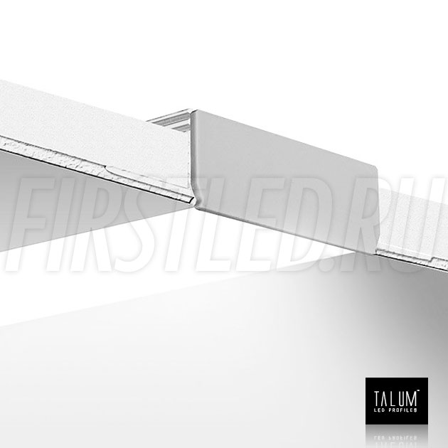 Встраиваемый алюминиевый профиль без рамок TALUM NOFRAME 45.19 смонтированный в потолке