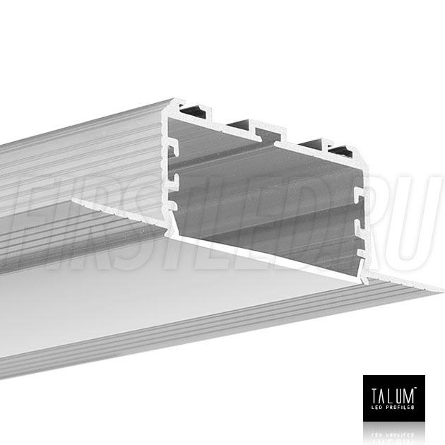 Встраиваемый алюминиевый профиль без рамок TALUM NOFRAME 45.25 с матовым рассеивателем