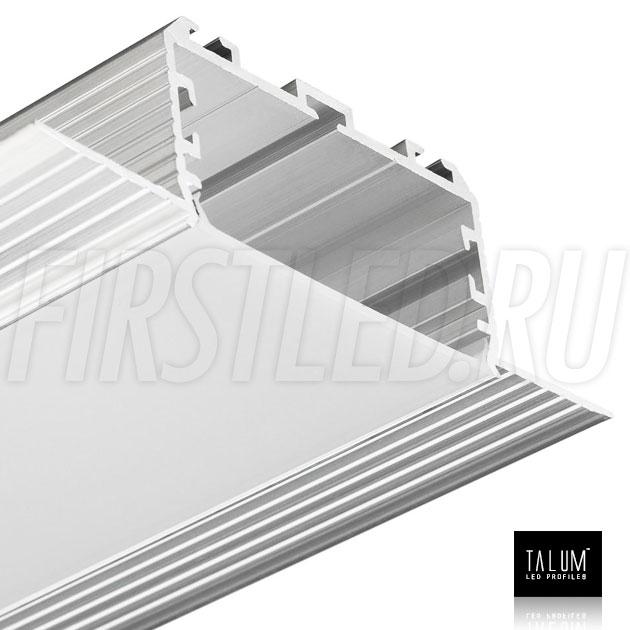 Безрамочный встраиваемый светодиодный профиль TALUM NOFRAME 45.25 с матовым рассеивателем
