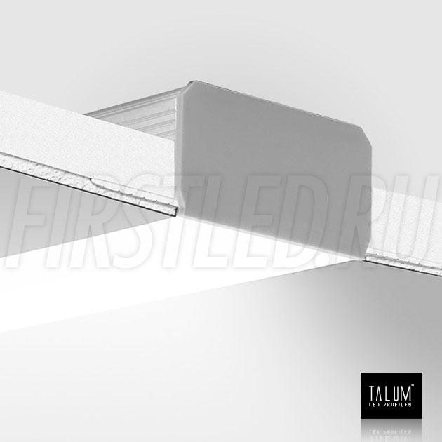Встраиваемый алюминиевый профиль без рамок TALUM NOFRAME 45.25 смонтированный в потолке