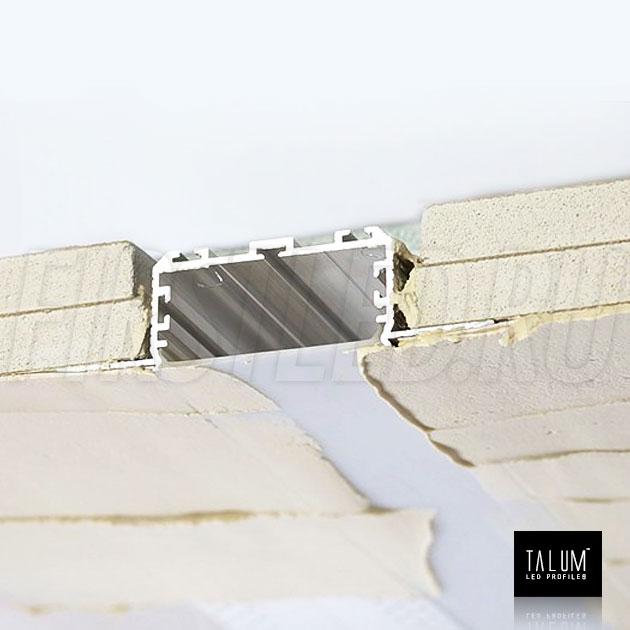 Встраиваемый алюминиевый профиль без рамок TALUM NOFRAME 45.19 / 45.25 — этап установки 2