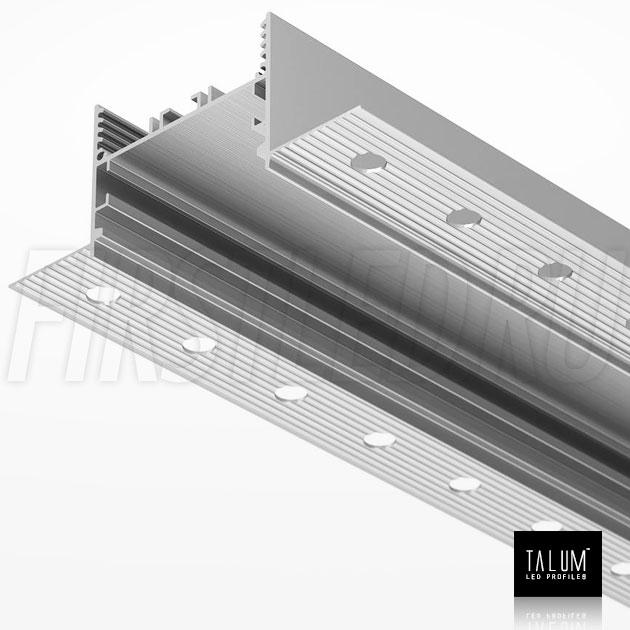 Встраиваемый алюминиевый профиль без рамок TALUM NOFRAME 45.35 без рассеивателя