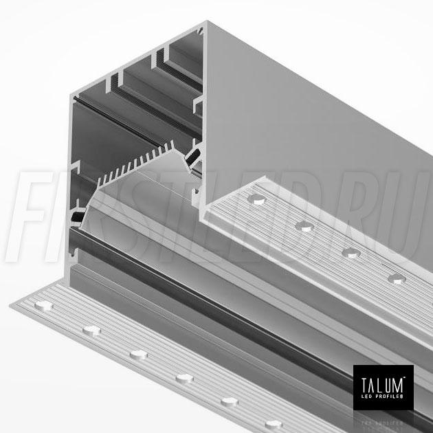 Встраиваемый алюминиевый профиль без рамок TALUM NOFRAME 54.70 под штукатурку