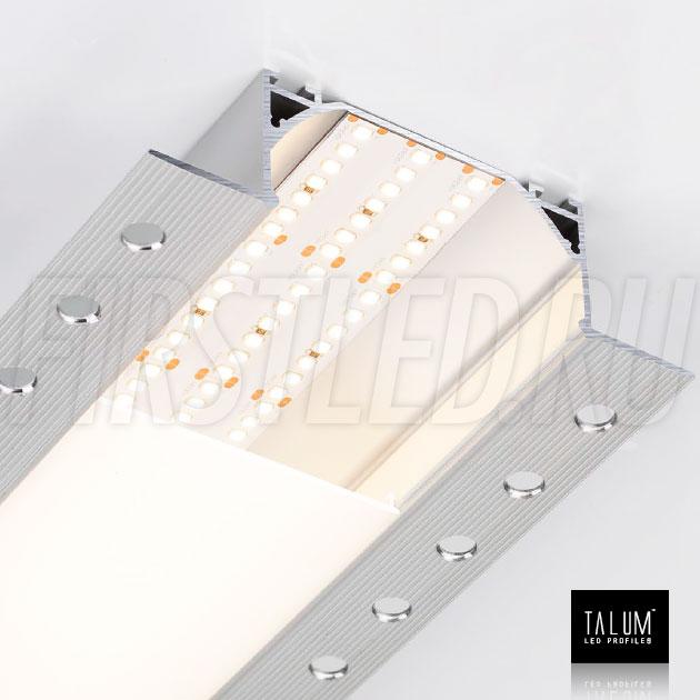 Встраиваемый алюминиевый профиль без рамок TALUM NOFRAME 72.36 со светодиодной лентой IAMLED PRO 280 (34mm)
