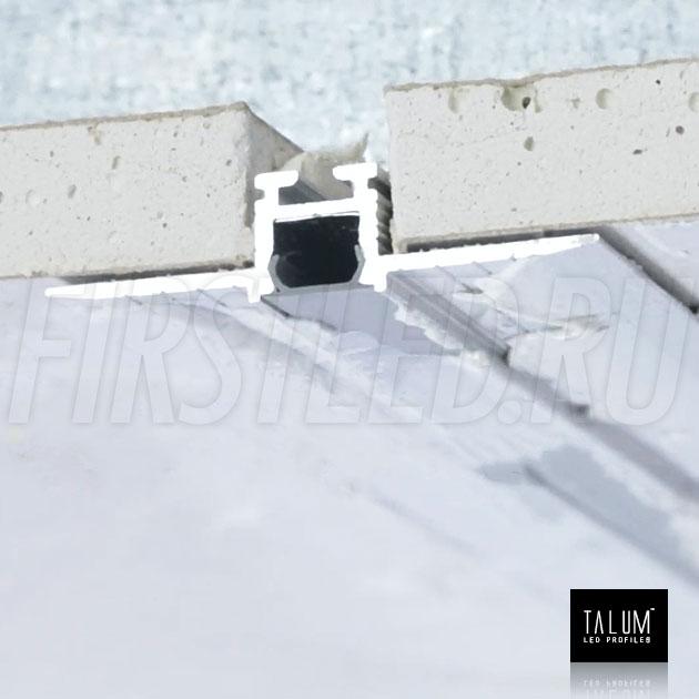Встраиваемый алюминиевый профиль без рамок TALUM NOFRAME 8.10 — этап установки 2