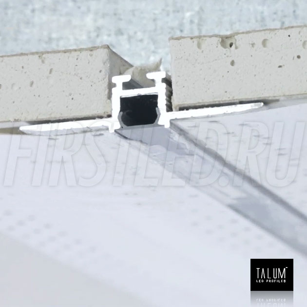 Встраиваемый алюминиевый профиль без рамок TALUM NOFRAME 8.10 — этап установки 3