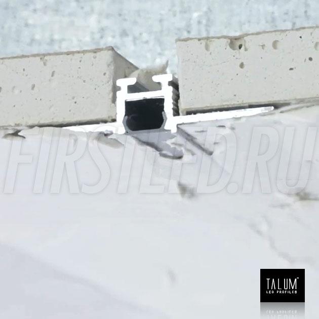 Встраиваемый алюминиевый профиль без рамок TALUM NOFRAME 8.10 — этап установки 4
