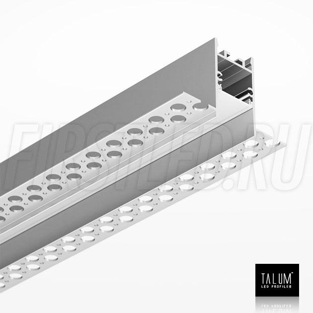 Встраиваемый алюминиевый профиль без рамок TALUM NOFRAME HIDE 22 вместе с рассеивателем