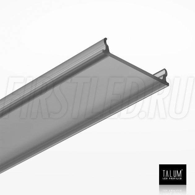 Черный матовый рассеиватель для светодиодного профиля TALUM NOFRAME HIDE 22