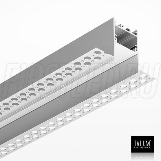 Встраиваемый алюминиевый профиль без рамок TALUM NOFRAME HIDE 30 вместе с рассеивателем