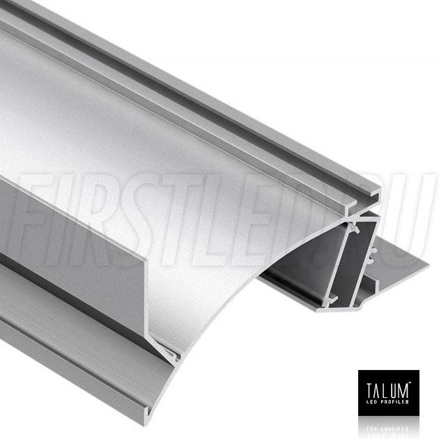 Встраиваемый алюминиевый профиль без рамок вдоль стен TALUM NOFRAME SB.105
