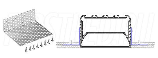 Сетка для монтажа светодиодного алюминиевого профиля TALUM W116.74n в потолок GRID