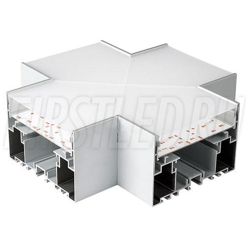 Крестовой X-образный соединитель для четырех профилей TALUM WP105.70 под прямыми углами 90°