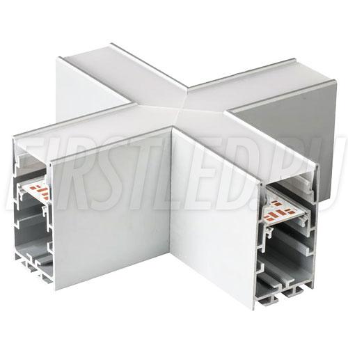 Крестовой X-образный соединитель для четырех профилей TALUM WP33.60 под прямыми углами 90°