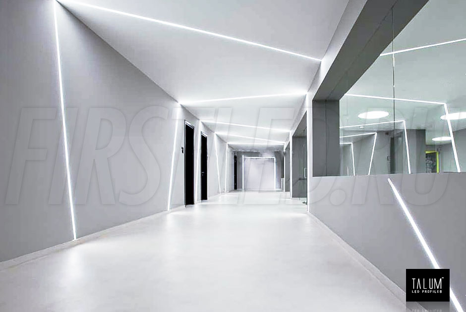 Встроенная световая линия без бортиков TALUM WP36.67n (профиль NS.3667)