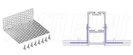 Сетка для монтажа светодиодного алюминиевого профиля TALUM WP36.67n в потолок GRID
