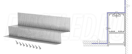 Сетка для монтажа светодиодного алюминиевого профиля TALUM WP36.67n вдоль стен GRID WALL