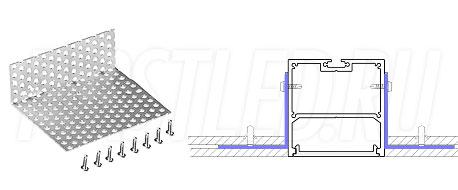 Сетка для монтажа светодиодного алюминиевого профиля TALUM WP50.50n в потолок GRID