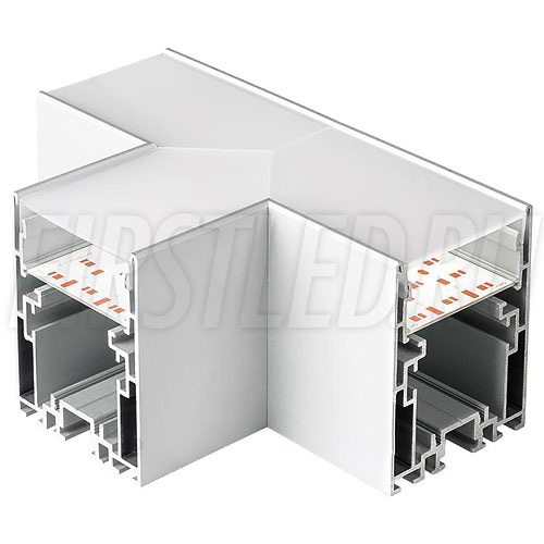 Т-образный соединитель для трех профилей TALUM WP54.70n под прямыми углами 90°