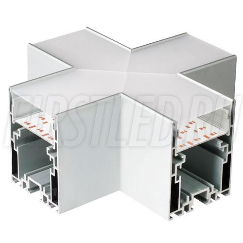 Крестовой X-образный соединитель для четырех профилей TALUM WP54.70 под прямыми углами 90°