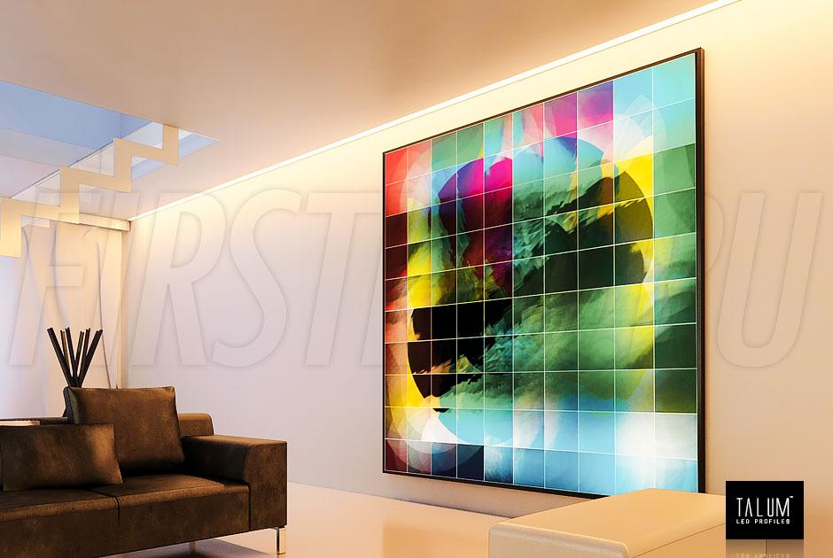 С помощью монтажных сеток GRID или GRID WALL светильник TALUM WP74.77n возможно установить как в любом месте потолка, так и вдоль стен