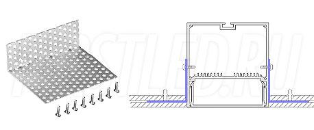 Сетка для монтажа светодиодного алюминиевого профиля TALUM WP74.77n в потолок GRID