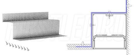 Сетка для монтажа светодиодного алюминиевого профиля TALUM WP74.77n вдоль стен GRID WALL