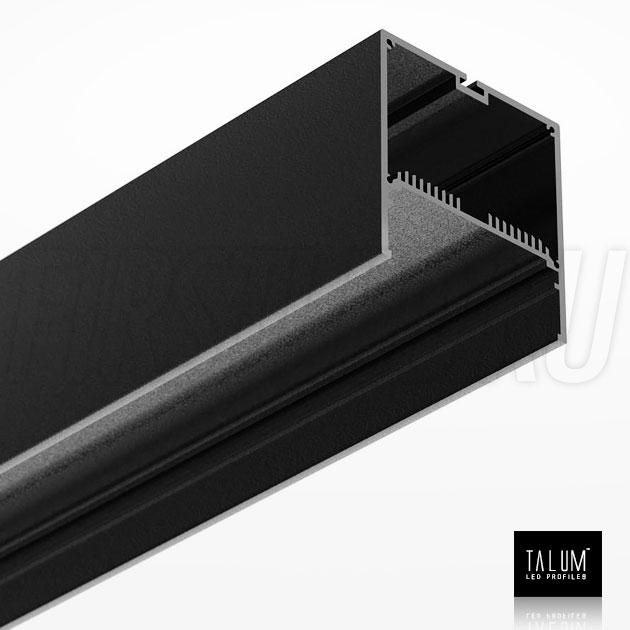 Светодиодный алюминиевый профиль TALUM WP74.77 BLACK (черный)
