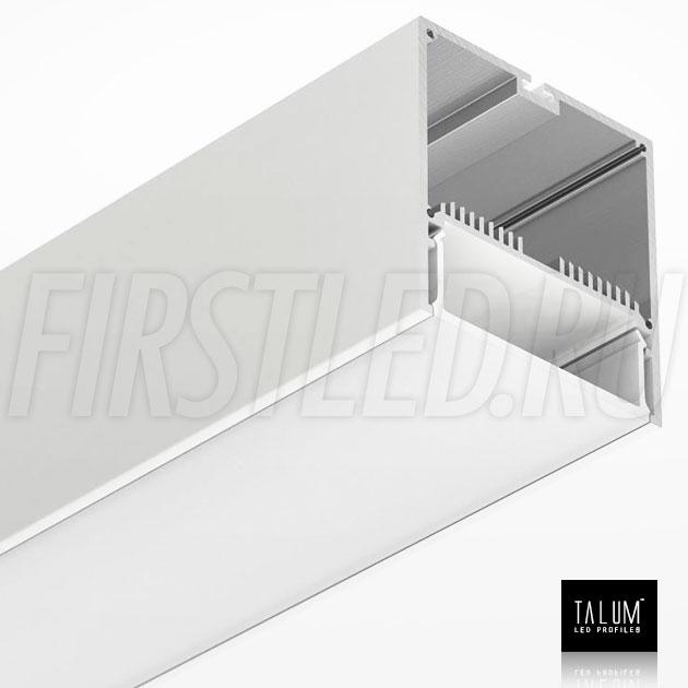 Светодиодный алюминиевый профиль TALUM WP74.77 WHITE (белый) вместе с рассеивателем