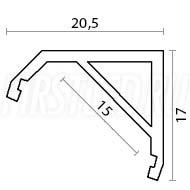 Чертеж (схема) светодиодного профиля TALUM S20.17
