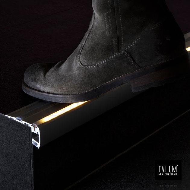 Профиль для ступенек TALUM STEP81.40 подсветка сверху