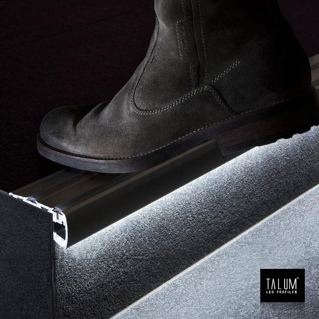 Профиль для ступенек TALUM STEP81.40 подсветка снизу