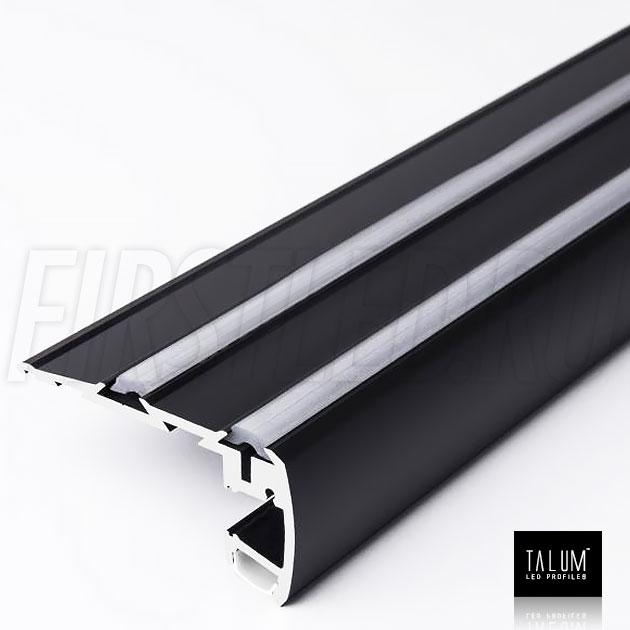 Профиль для ступенек TALUM STEP81.40 черного цвета