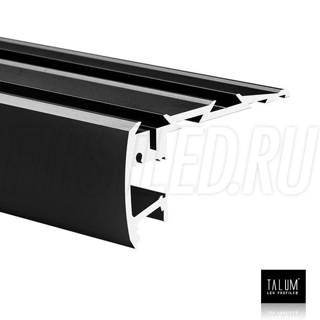 Светодиодный профиль для ступенек TALUM STEP81.40 черного цвета