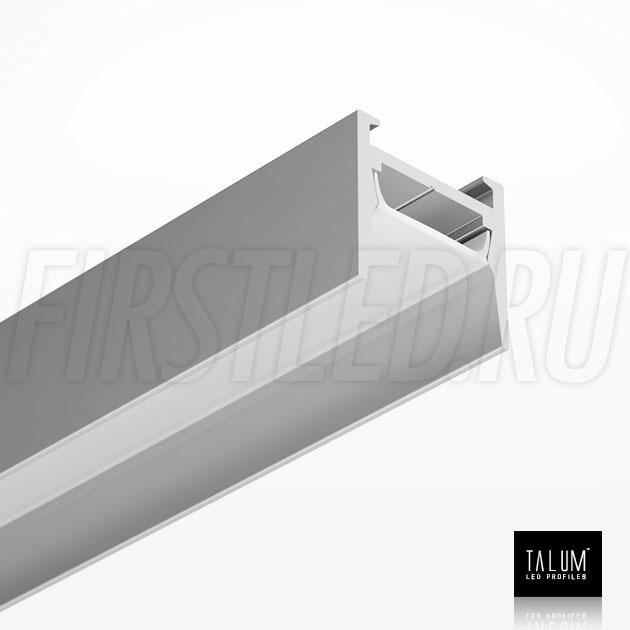 Накладной алюминиевый профиль TALUM HIDE W16.15 вместе с матовым рассеивателем