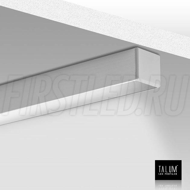 Накладной алюминиевый профиль TALUM HIDE W16.15 во включенном состоянии