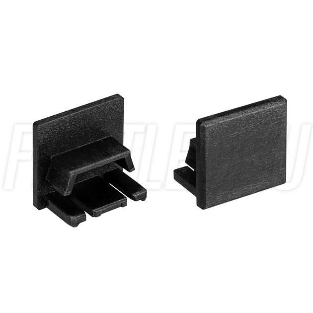 Заглушки черные глухие для светодиодного профиля TALUM HIDE W16.15 BLACK