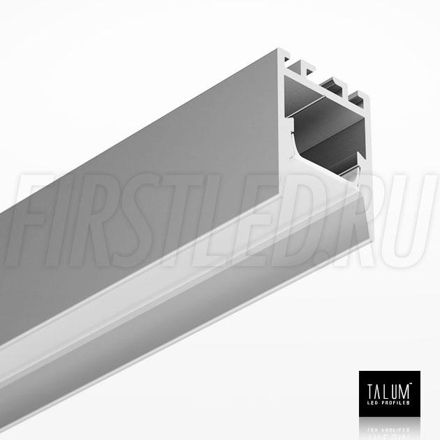 Накладной / подвесной алюминиевый профиль TALUM HIDE WP16.22 вместе с матовым рассеивателем