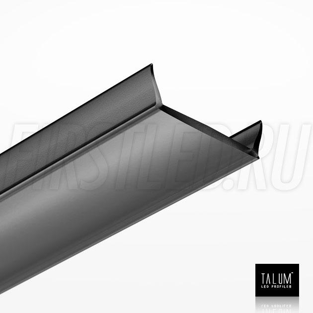 Черный матовый рассеиватель для светодиодного профиля TALUM HIDE WP16.22
