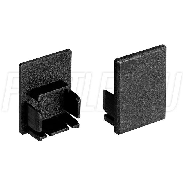 Заглушки черные глухие для светодиодного профиля TALUM HIDE WP16.22 BLACK