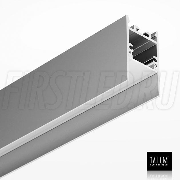 Накладной / подвесной алюминиевый профиль TALUM HIDE WP25.42 вместе с матовым рассеивателем