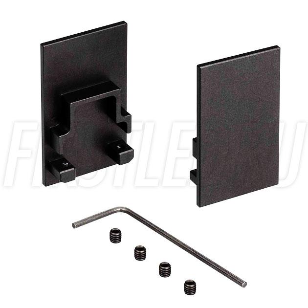 Заглушки черные глухие для светодиодного профиля TALUM HIDE WP25.42 BLACK
