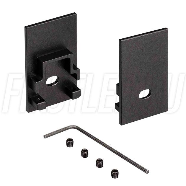Заглушки черные с отверстием для светодиодного профиля TALUM HIDE WP25.42 BLACK