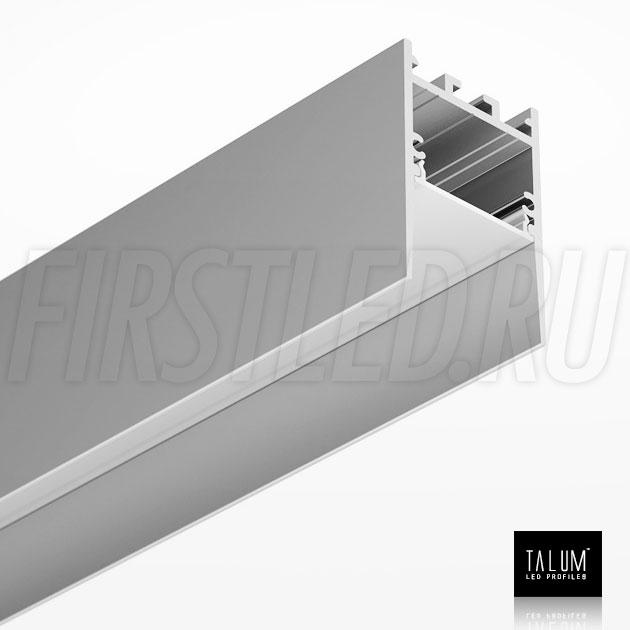 Накладной / подвесной алюминиевый профиль TALUM HIDE WP35.51 вместе с матовым рассеивателем