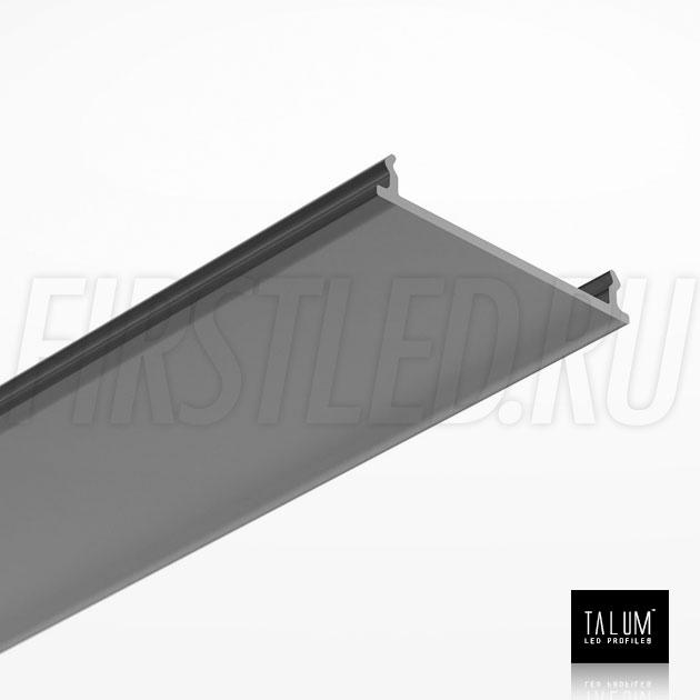 Черный матовый рассеиватель для светодиодного профиля TALUM HIDE WP35.51